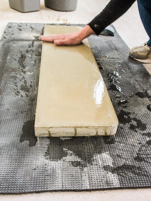 slipa betonggolv för hand
